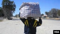 isiphepheli esihlala eDukwi Refugee Camp kwele Botswana.