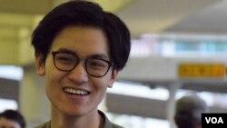 香港城市大學學生會會長陳岳霖。(美國之音湯惠芸)