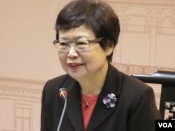 台北故宫博物院长冯明珠(美国之音张永泰拍摄)