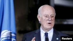 联合国叙利亚事务特使德米斯图拉。