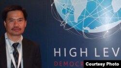 Nhà tranh đấu dân chủ Đỗ Thành Công, người khởi xướng cuộc tuyệt thực trước tòa lãnh sự Việt Nam ở thành phố San Francisco.