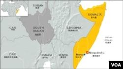 索馬里地理位置圖