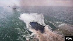 დესანტირება USS Oak Hill-დან Spring Storm 2018-ზე რუმინეთის წლებში