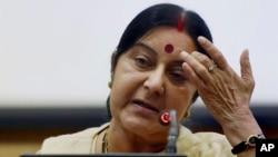 Menteri Luar Negeri India,Sushma Swaraj (foto: dok).