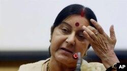 Menteri Luar Negeri India Sushma Swaraj (Foto: dok.)
