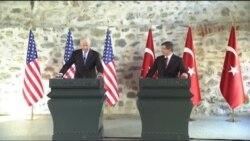 Biden-Davutoğlu Basın Açıklamasından Görüntüler