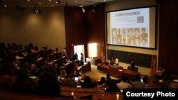 미국 프린스턴대학의 북한인권 학생단체 'PNKHR'이 23일 '북한의 인권: 가망은 없는가?' 란 주제로 대학연합 토론회를 열었다. PNKHR 제공.