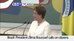 VOA60 World - Brazil: President Rousssef calls on citizens to unite in the fight against the Zika virus