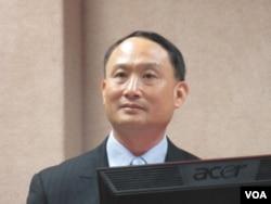 台灣國防部副部長鄭德美上將。(美國之音張永泰攝)