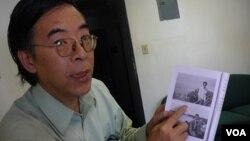 吴仁华书中有他当年透过黄雀行动逃到澳门的照片(美国之音容易拍摄)