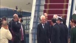 意大利總統抵達越南訪問
