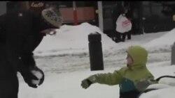 2014-02-14 美國之音視頻新聞: 美國東部遭遇暴風雪 民生受到嚴重影響