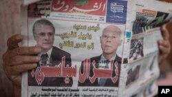 Face à face électoral dimanche le magnat des médias Nabil Karoui et l'universitaire Kais Saied.