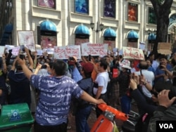 Biểu tình tại Sài Gòn. (Hình: FB Trần Tiến Dũng)