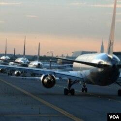 Bandara Internasional JFK di New York ini merupakan salah satu yang tersibuk di Amerika.