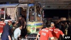 지난 10월 파키스탄 퀘타에서 발생한 폭탄 공격 현장.