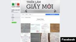Trang Facebook 'Triển lãm giấy mời' trưng bày hơn 150 văn bản do chính quyền gửi đến người dân như giấy mời, giấy hay lệnh triệu tập.
