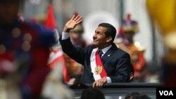 Ollanta Humala, un militar retirado de izquierda de 49 años, se convertió en el nuevo presidente de Perú por los próximos cinco años.