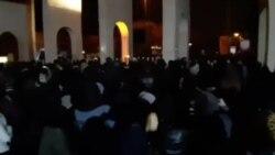 تظاهرات محصلان پوهنتون شریف