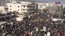 Afrin'de Türkiye Protestosu