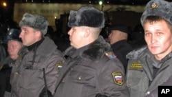 莫斯科集会现场警察