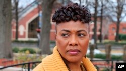 In this Jan 10, 2018 photo, Bernice King poses for a photograph at the King Center, in Atlanta.