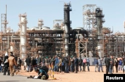 A general view of damage is seen following an attack and ensuing siege by Islamist militants at a gas plant in Ain Amenas, Algeria, Jan. 31, 2013. Mokhtar Belmokhtar was seen as the mastermind of the operation.