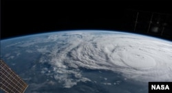 The International Space Station orbited over Hurricane Harvey and photographed the storm bearing down on the Texas coast.
