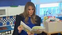 Првата дама Меланија Трамп посети детска болница во Њујорк