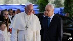 Đức Giáo hoàng Phanxicô gặp gỡ Tổng thống Israel Shimon Peres tại Jerusalem, ngày 26/5/2014.