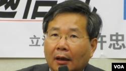 台联党立委 许忠信( 美国之音 张永泰拍摄)