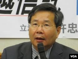 台灣在野的台聯黨立委許忠信(美國之音張永泰拍攝)