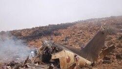 نمایی از باقی مانده هواپیمای سانحه دیده مراکش در جنوب این کشور - ۲۶ ژوییه ۲۰۱۱