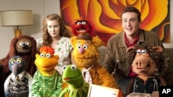 """The Muppets"" joined by Amy Adams and Jason Segel"