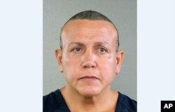 ڈاک کے ذریعے بم بھیجنے کے شبہے میں فلوریڈا سے گرفتار کیا جانے والا شخص سیزر سیاک۔ اکتوبر 2018