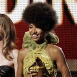 Esperanza holds the Grammy Award for Best New Artist