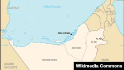 Peta Lokasi Abu Dhabi (Foto: Wikipedia).