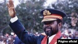Presidente de Moçambique, Samora Machel, em 1984