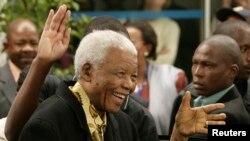 L'ancien président sud-africain Nelson Mandela à Houghton 22 avril 2009.