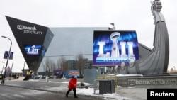 Стадион, на котором пройдет матч за звание чемпиона НФЛ в Миннеаполисе, штат Миннесота