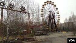 Napušteni zabavni park u Pripjatu, gradu u blizini nuklearne elektrane Černobil