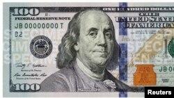 100 dollarlik banknotasining yangi ko'rinishi