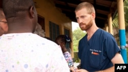 FILE - Undated handout photo courtesy of Samaritan's Purse shows Dr. Kent Brantly near Monrovia, Liberia.