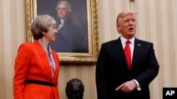 Rais Donald Trump na Waziri Mkuu wa Uingereza Theresa May