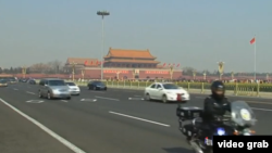 中国两会正在北京举行(VOA视频截图)