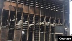 Agribank Mall Burnt