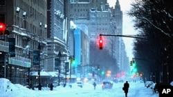 纽约市大雪过后的景象
