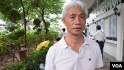香港立法會選舉超級區議會候選人梁耀忠(VOA湯惠芸攝)