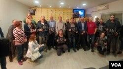 """Članovi NUNS-a u akciji """"Kraj nekažnjivosti - za konvenciju UN o zaštiti novinara"""""""