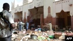 Saldırıdan sonra N'Dajemena'daki pazaryeri